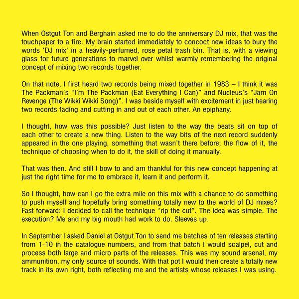 Luke Slater Berghain Fünfzehn Liner Notes